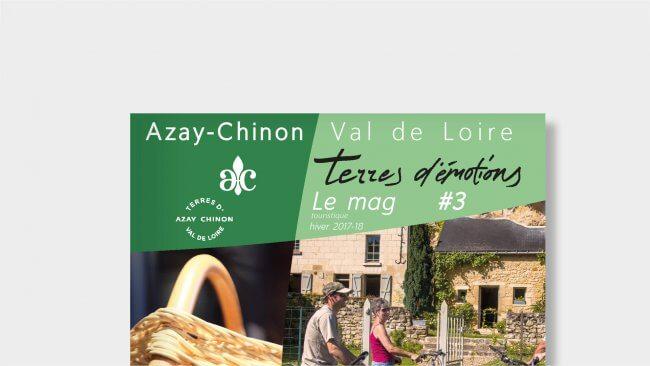 Magazines Terres d'émotion de l'office de tourisme Azay-chinon
